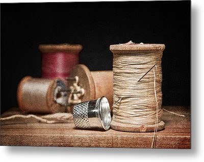 Needle And Thread Metal Print by Tom Mc Nemar