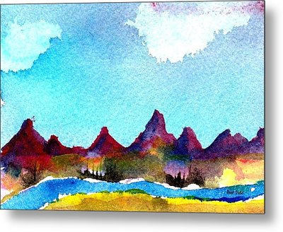 Metal Print featuring the painting Needles Mountains by Anne Duke