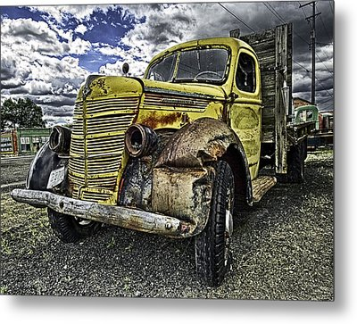 Metal Print featuring the photograph Needs New Headlights by Gary Neiss