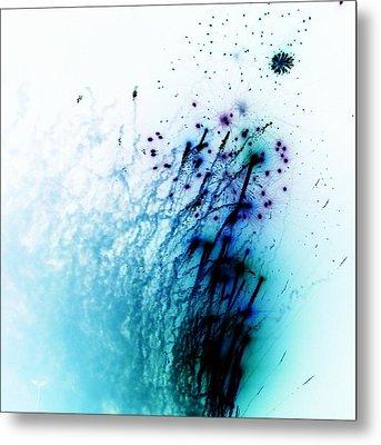 Negative Fireworks Metal Print by Sharon Lisa Clarke
