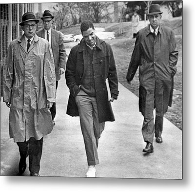 Negro Escorted To College Metal Print by Underwood Archives