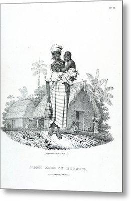 Negro Mode Of Nursing Metal Print by British Library