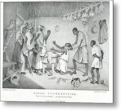 Negro Superstition Metal Print