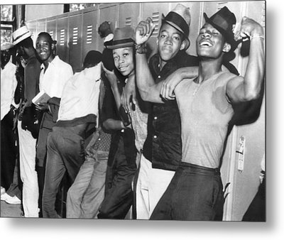 Negro Youths Interrogated Metal Print by Underwood Archives
