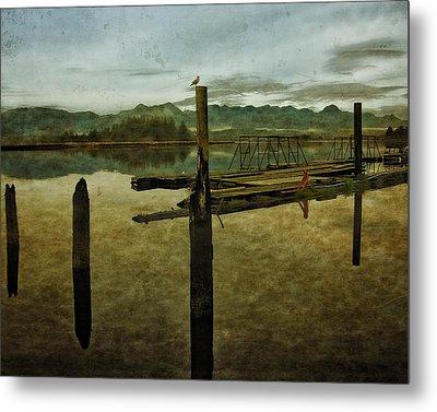 Nehalem Bay Reflections Metal Print
