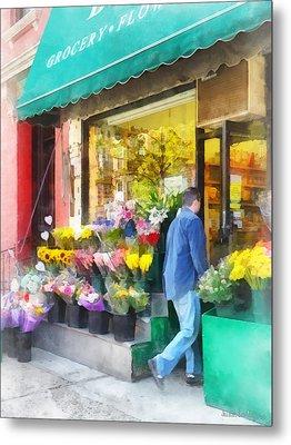 Neighborhood Flower Shop Metal Print by Susan Savad
