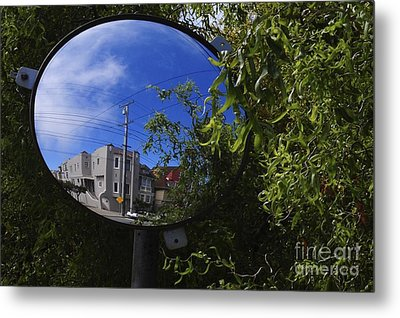 Metal Print featuring the photograph Neighborhood Reflection by Sherry Davis