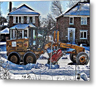 Neighbourhood Snowplough Metal Print