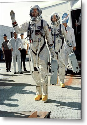 Neil Armstrong And David R. Scott In 1966 Metal Print