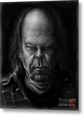 Neil Young Metal Print by Andre Koekemoer