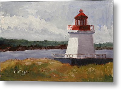 Neil's Harbor Metal Print by Alan Mager