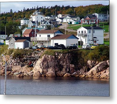 Neil's Harbour Metal Print by Janet Ashworth