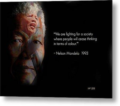 Nelson Mandela  Metal Print by Lynda Payton