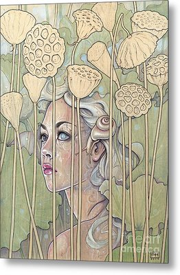 Nelumbo Metal Print by Fay Helfer