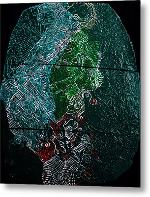 Metal Print featuring the painting Nemesis by Gloria Ssali