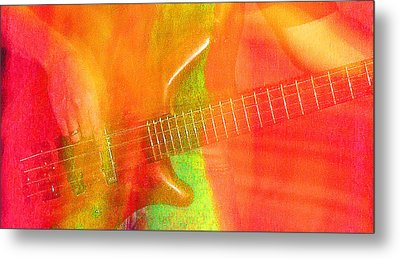 Neon Bass Fusion Metal Print by James Hammen