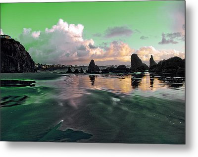 Metal Print featuring the photograph Neon Beach by Adria Trail