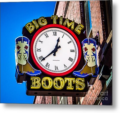 Neon Boots Metal Print by Perry Webster
