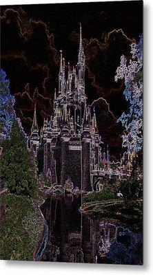Neon Castle Metal Print