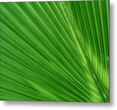Neon Palm Reader Metal Print