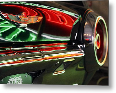 Metal Print featuring the photograph Neon Reflections by Shoal Hollingsworth