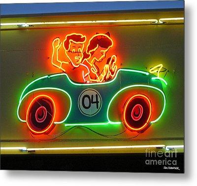 Neon Sign Kennywood Park Metal Print by Jim Zahniser