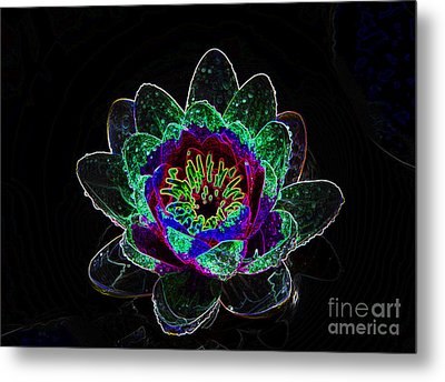 Neonflower Metal Print