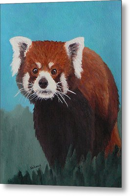 Nepalese Forest Dweller Metal Print by Margaret Saheed