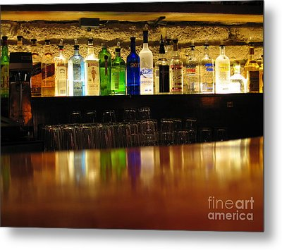 Nepenthe's Bottles Metal Print by James B Toy
