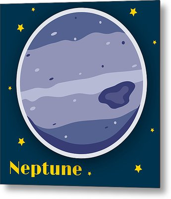 Neptune Metal Print by Christy Beckwith