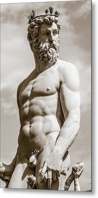 Neptune Statue In Florence Metal Print