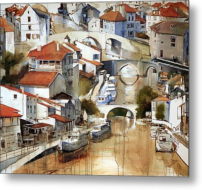 Nerac France Metal Print by Shirley  Peters