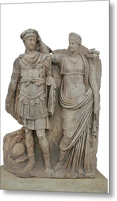 Nero And His Mother Agrippina Metal Print by Tracey Harrington-Simpson