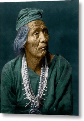 Nesjaja Hatali - Navaho Metal Print by Rick Mosher