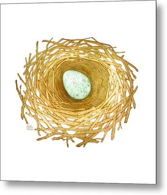 Nest And Egg Metal Print by Catherine Noel