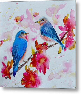 Nesting Pair Metal Print by Beverley Harper Tinsley