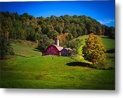 nestled in the hills of West Virginia Metal Print by Shane Holsclaw