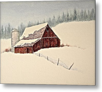 Nestled In White Metal Print by Carolyn Rosenberger