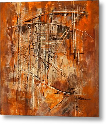 Metal Print featuring the painting Network by Buck Buchheister