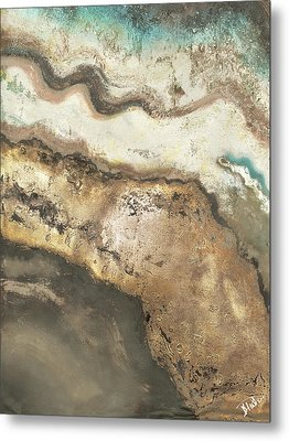 Neutral Tierra Rectangle II Metal Print by Patricia Pinto