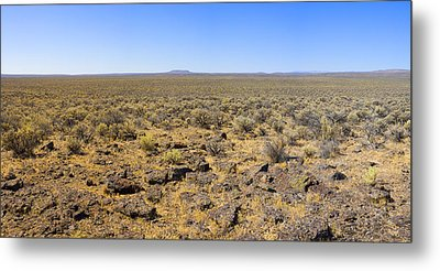 Metal Print featuring the photograph Nevada Desert Panorama by Mark Greenberg