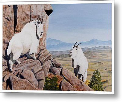 Nevada Mountain Goats Metal Print