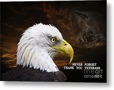 Never Forget - Memorial Day Metal Print by Cris Hayes