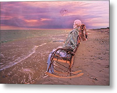 Never Let Fear Decide Your Fate Metal Print by Betsy Knapp