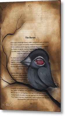 Nevermore #1 Metal Print by  Abril Andrade Griffith