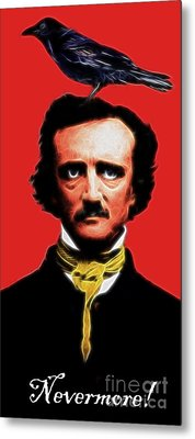 Nevermore - Edgar Allan Poe - Electric Metal Print by Wingsdomain Art and Photography