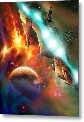Nevtar Stardrive Metal Print by James Christopher Hill