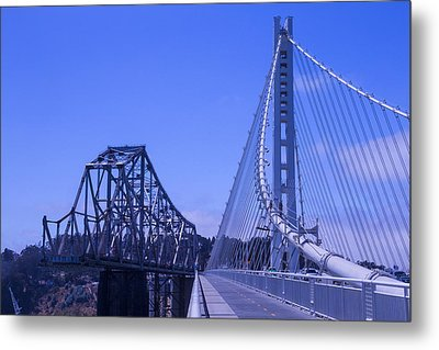 New And Old Bay Bridge Metal Print by Garry Gay