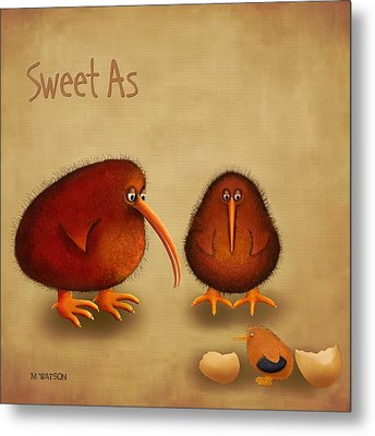 New Arrival. Kiwi Bird - Sweet As - Boy Metal Print