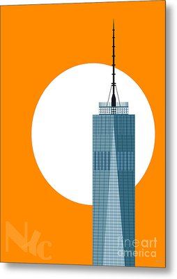 New Beginnings Freedom Tower Metal Print by Nishanth Gopinathan